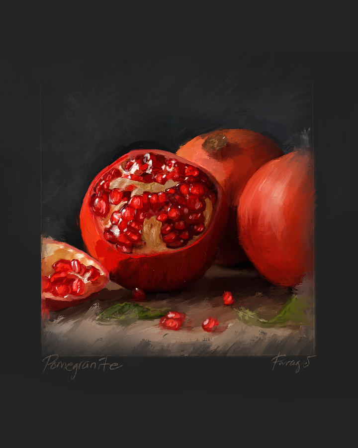 Pomegranates Painting by Peter Farago