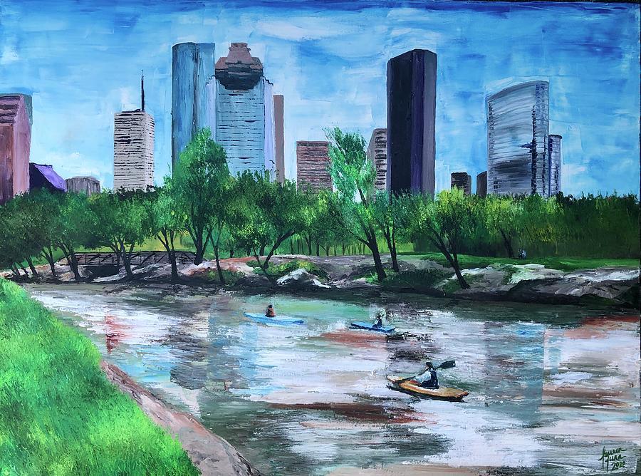 River Painting - Pon de River by Lauren Luna