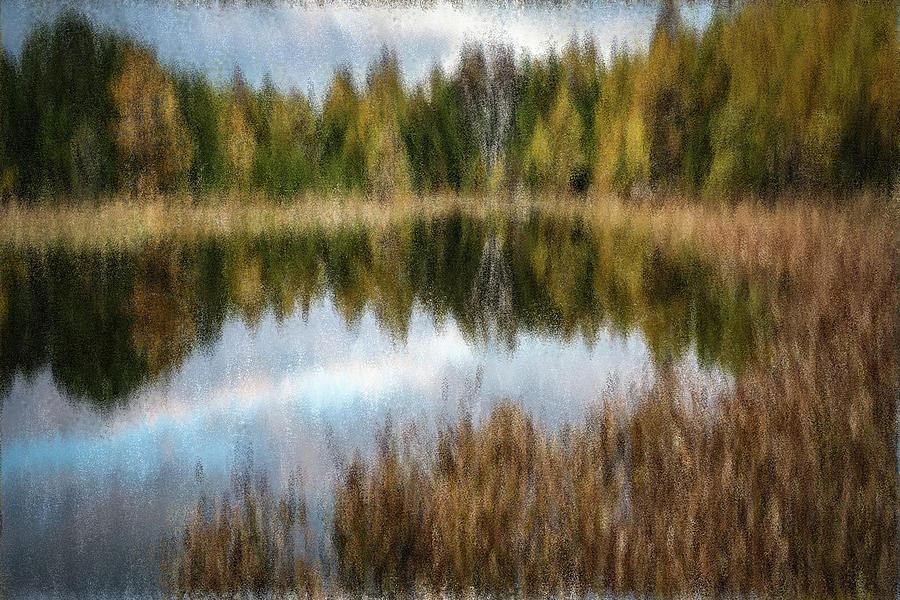 Pond at dawn by David Heilman