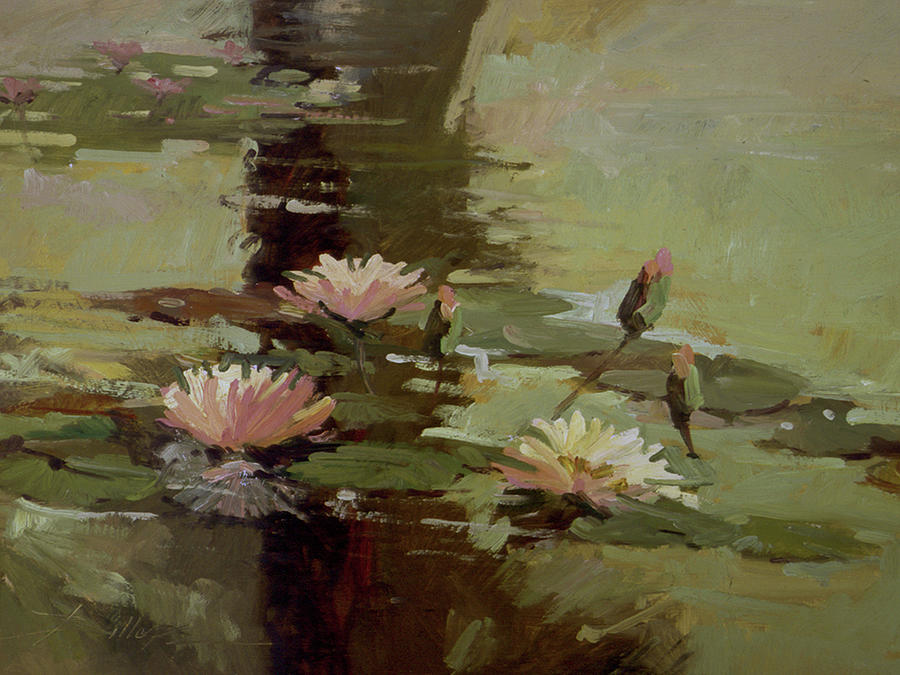 Pond Blossoms Painting by Betty Jean Billups