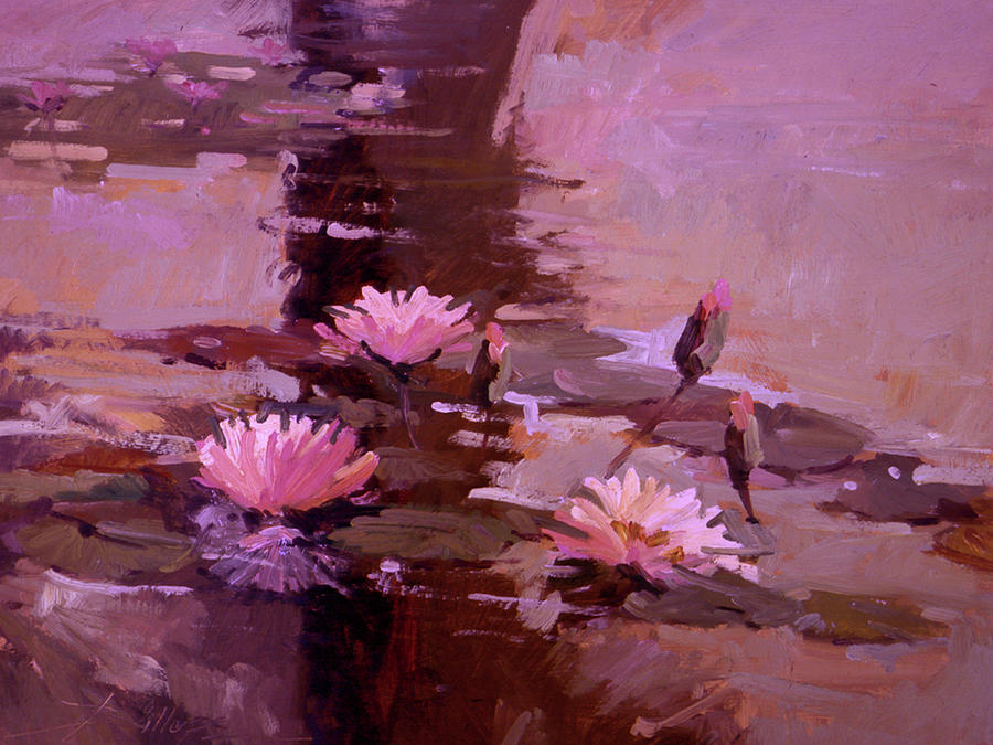 Pond Blossoms - water lilies Painting by Betty Jean Billups