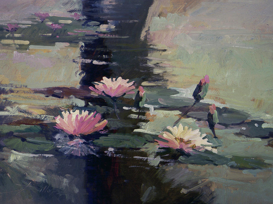 Water Lilies Painting - Pond Lilies by Betty Jean Billups