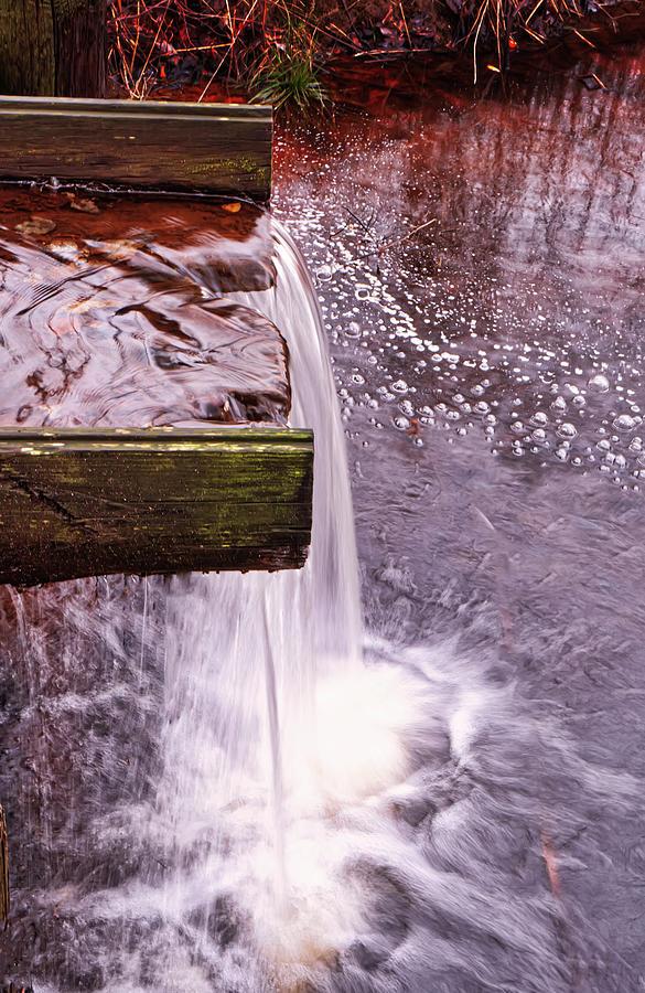 Pond Spillway At Big Brook Park by Gary Slawsky