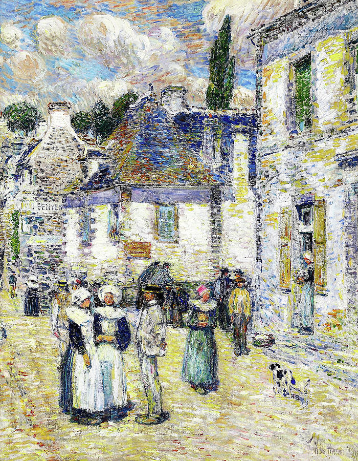 Pont-aven Painting - Pont-aven - Digital Remastered Edition by Frederick Childe Hassam