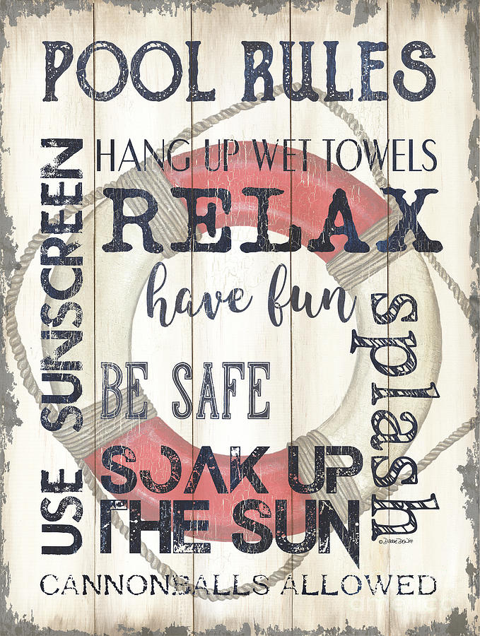 Pool Rules Painting