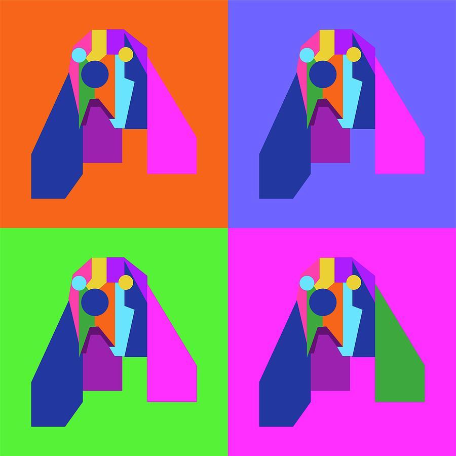 Pop Art Dog Geometric Wpap Style Digital Art