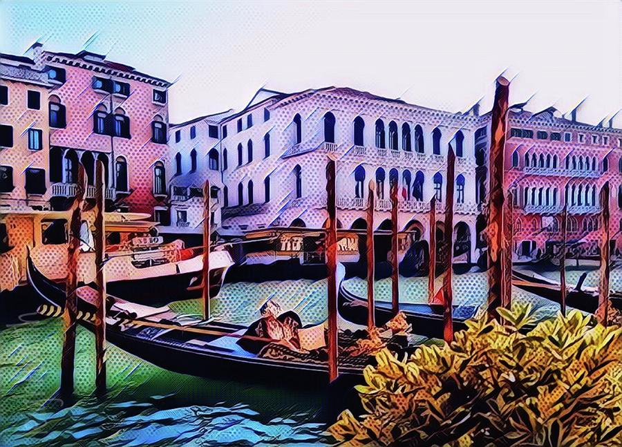 Pop Art Edit Venice Photograph