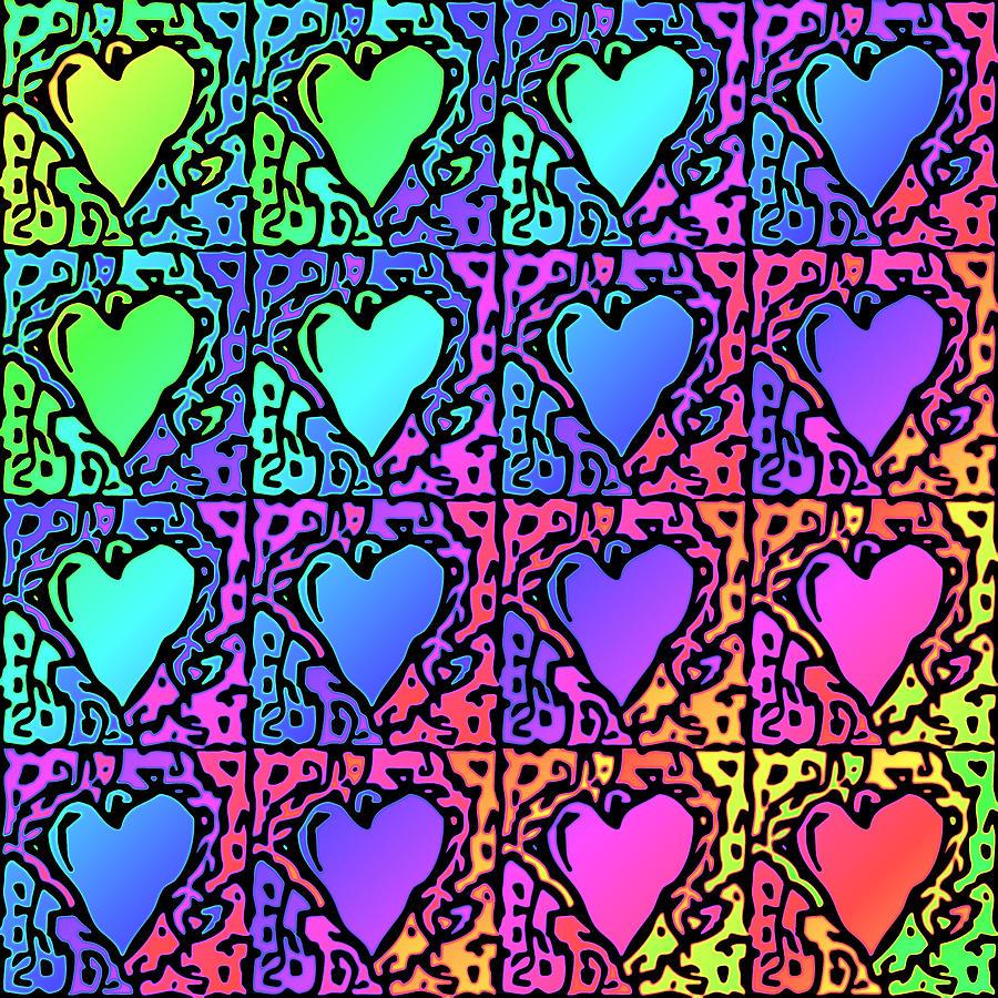 Pop Art Hearts Digital Art