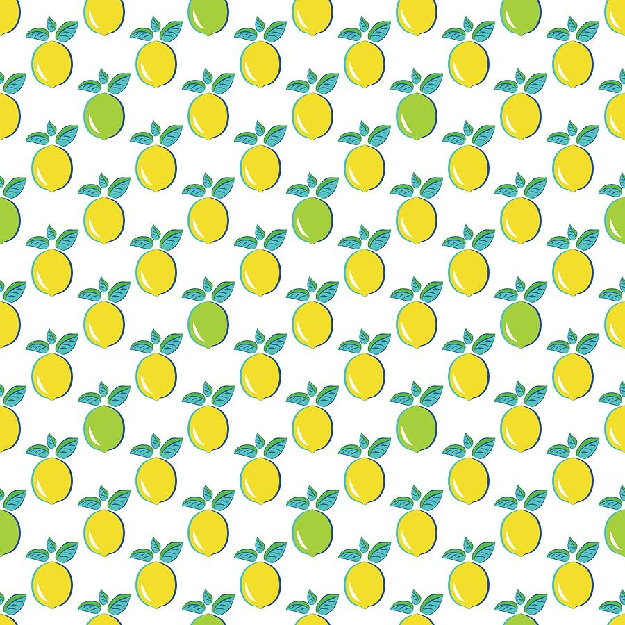 Pop Art Lemon Lime Citrus by MM Anderson