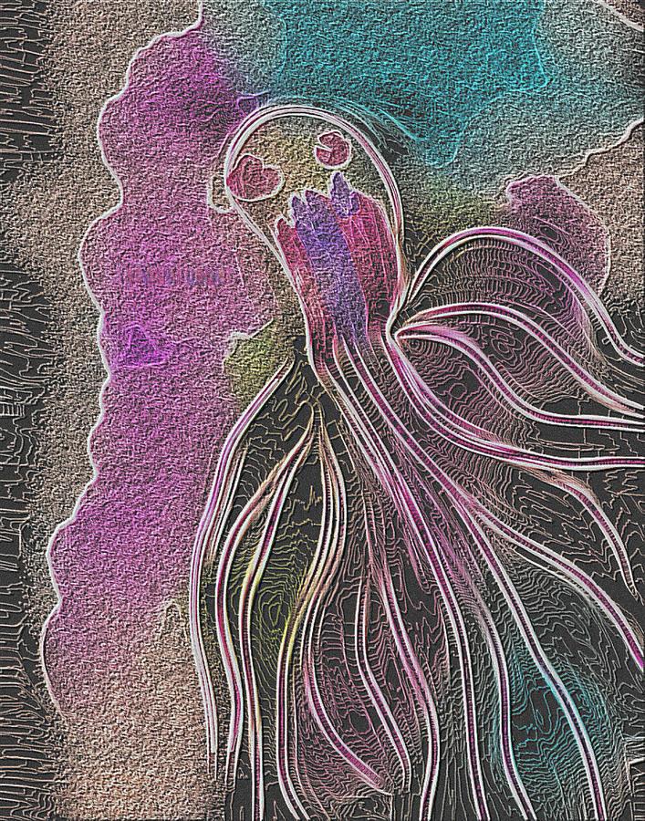 Digital Digital Art - Pop Corall by Auranatura Art