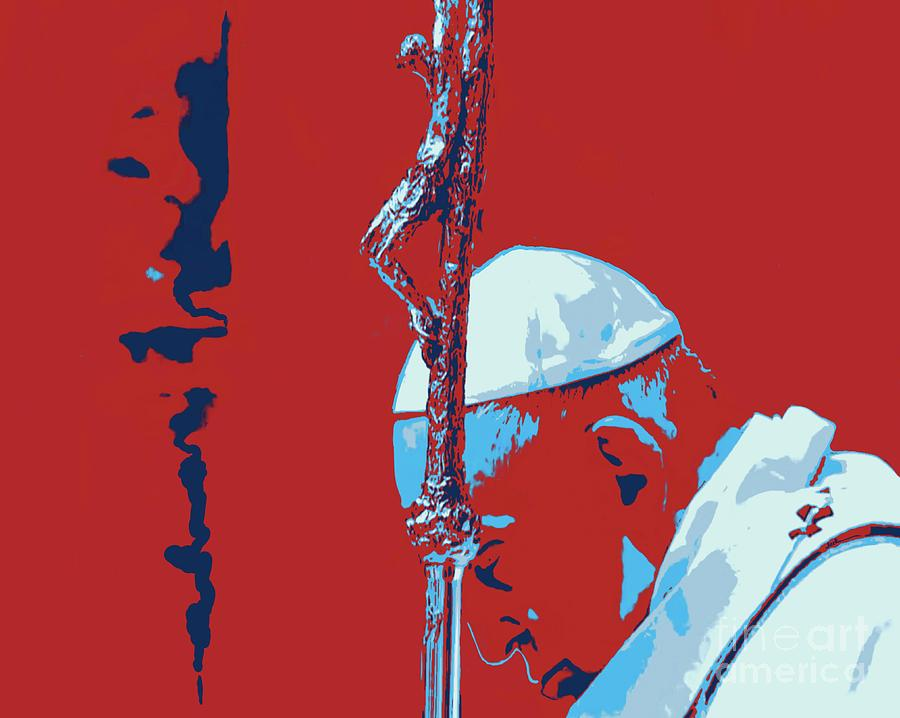 Pope Painting - Pope Christmas 2020 by Jack Bunds