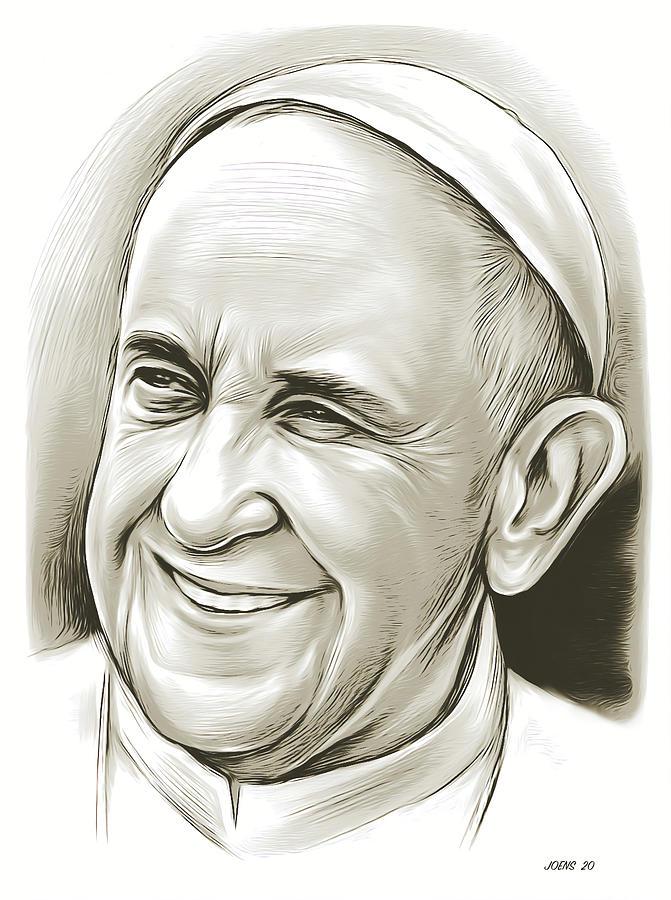 Pope Francis - Mixed Media Mixed Media