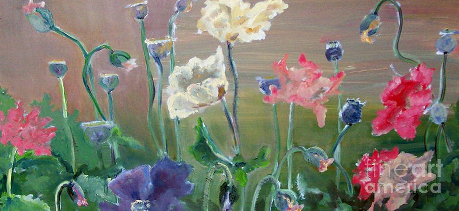 Poppies Painting - Poppies by CJ  Rider