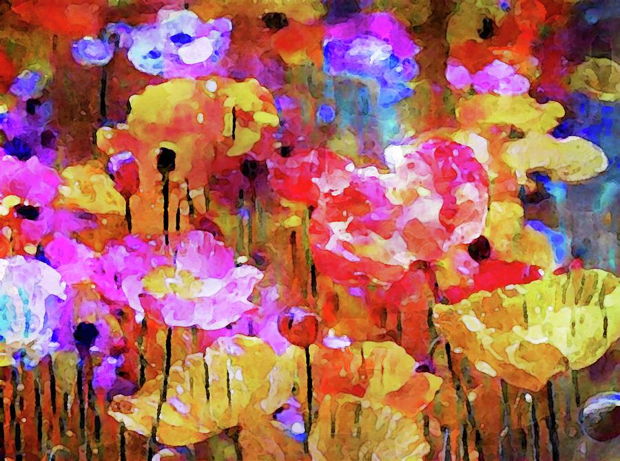 Poppies In The Meadow Digital Art