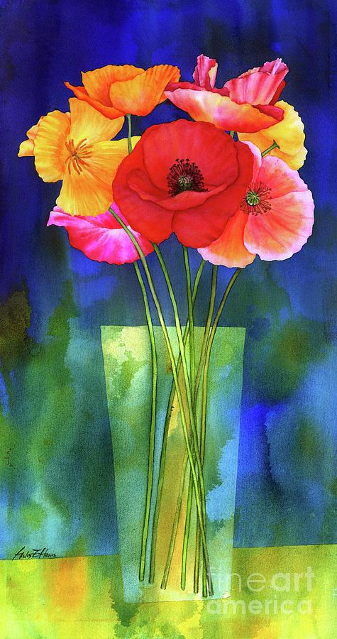 Poppies In Vase Painting