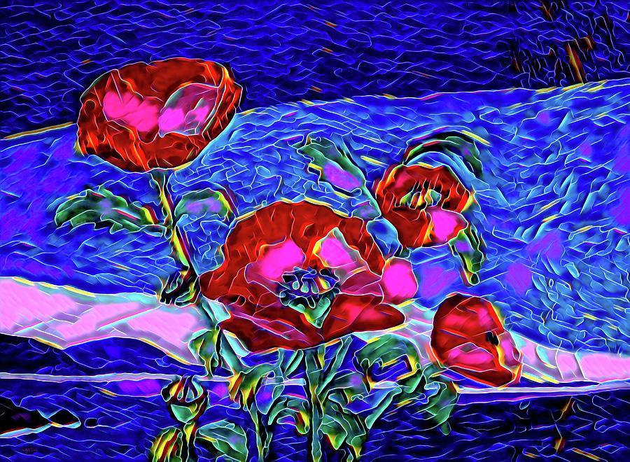 Poppies Digital Art