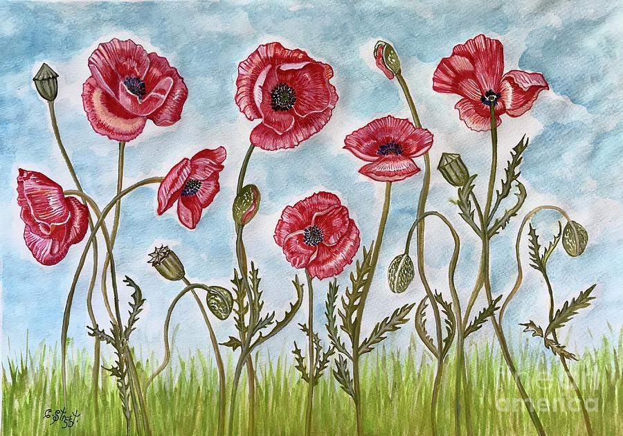 Poppy Field Painting