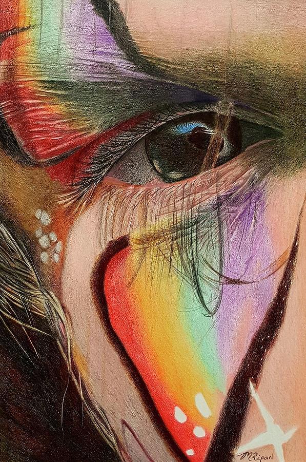 Girl Drawing - Poppy by Michelle Ripari
