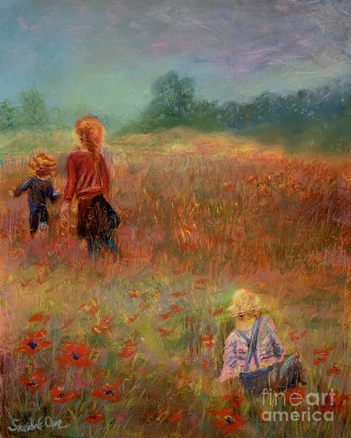 Puppies Pastel - Poppy Playground  by Sarah Orre