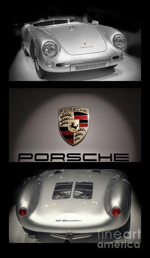 Porsche 550 Photograph - Porsche 550 Spyder triptych by Stefano Senise