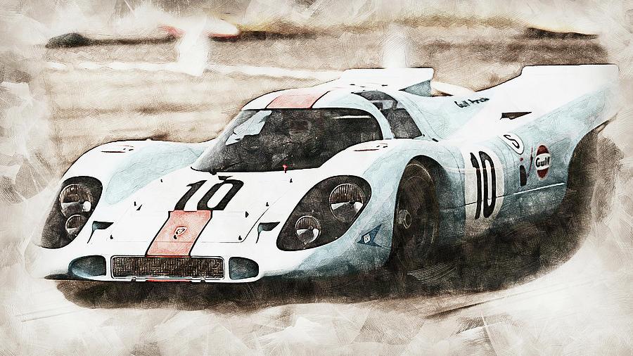 Porsche 917k - 20 by AM FineArtPrints