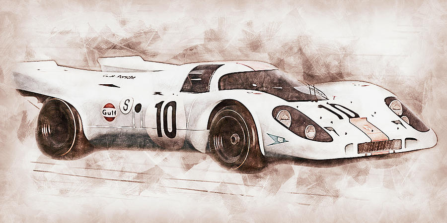 Porsche 917k - 21 by AM FineArtPrints