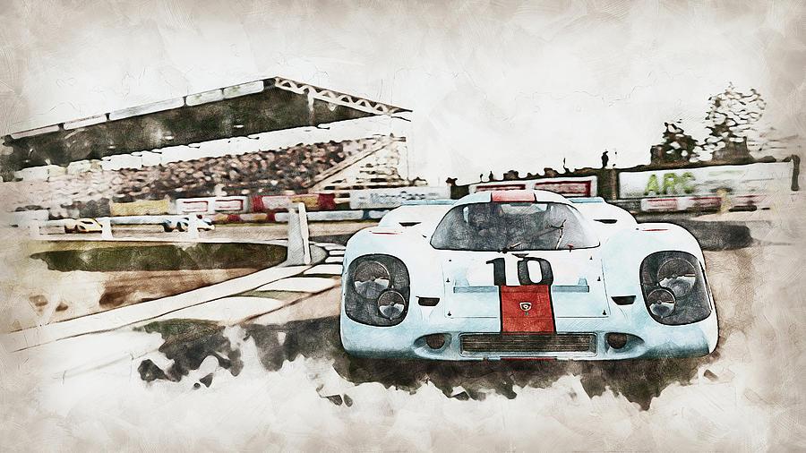Porsche 917k - 22 by AM FineArtPrints