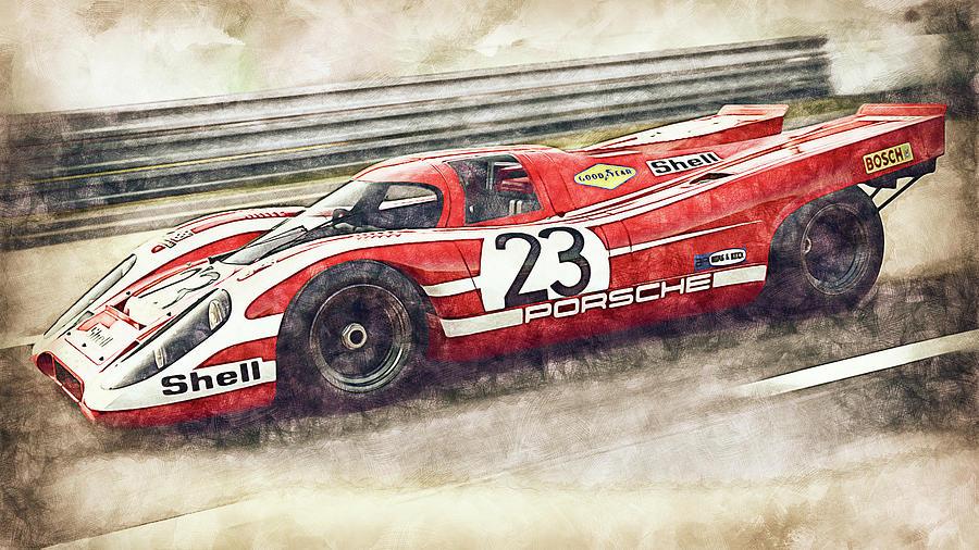 Porsche 917k - 23 by AM FineArtPrints