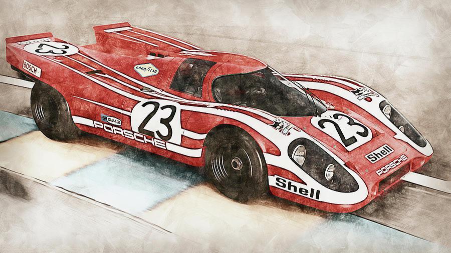 Porsche 917k - 25 by AM FineArtPrints