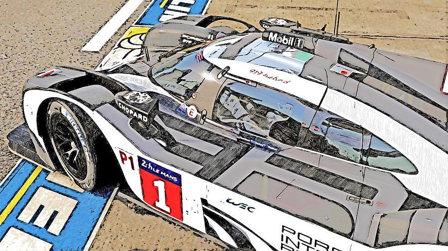 Porsche 919 Hybrid - 03 by AM FineArtPrints