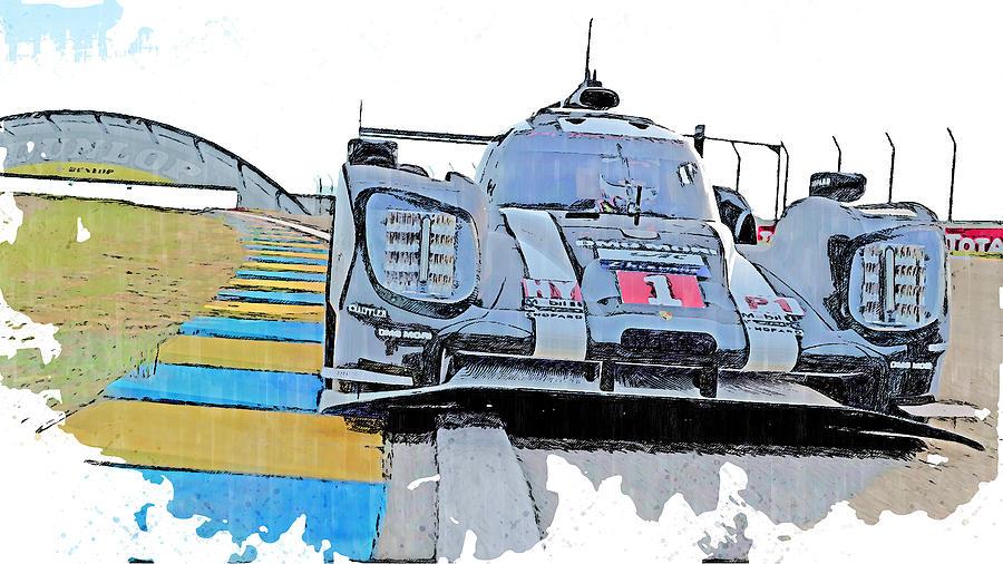 Porsche 919 Hybrid - 06 by AM FineArtPrints