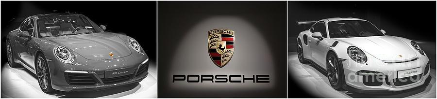 Porsche Photograph - Porsche Car Wide HQ Triptych by Stefano Senise