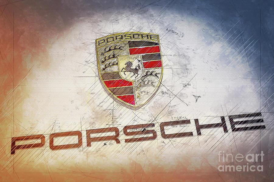 Porsche Logo Digital Art - Porsche Logo Design project by Stefano Senise