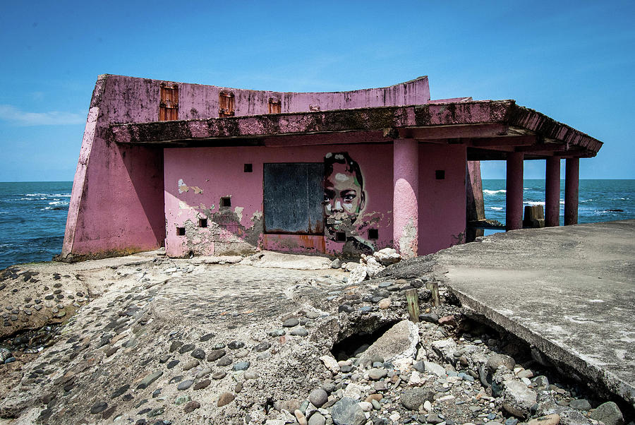 Pink Photograph - Port of Call Limon, Costa Rica by Wayne Higgs