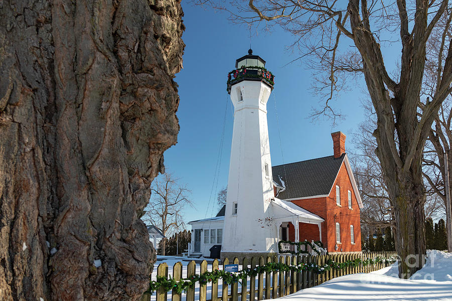 Lighthouse Photograph - Port Sanilac Lighthouse by Jim West
