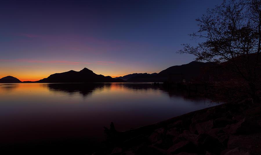 Porteau Cove Blue Hour by Monte Arnold