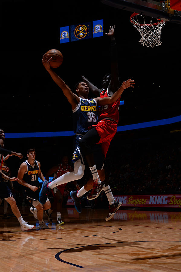 Portland Trail Blazers v Denver Nuggets Photograph by Bart Young