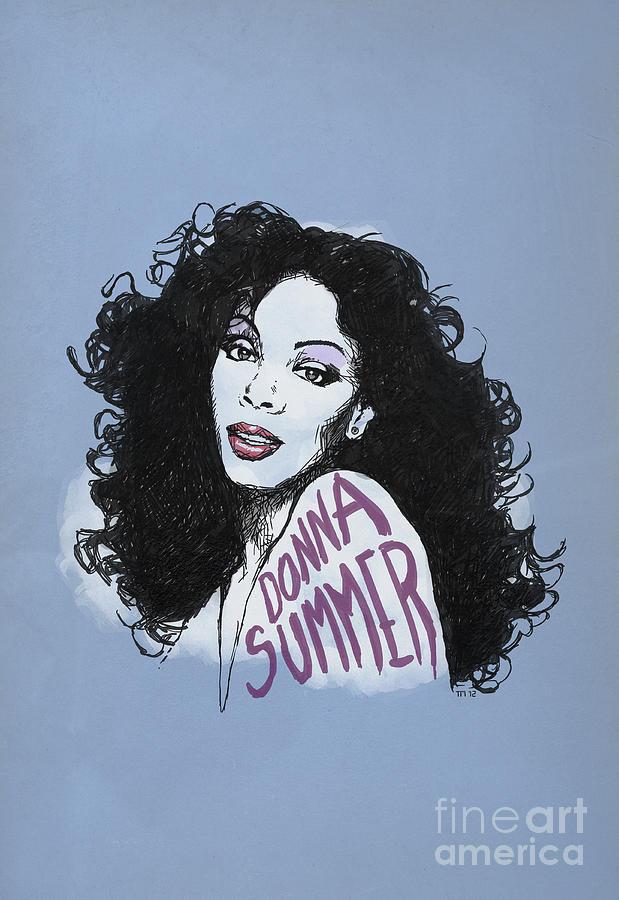 Portrait Donna Summer Mixed Media