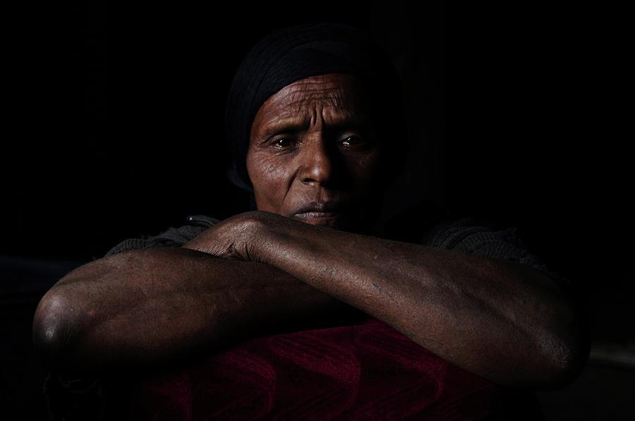 Portrait - In The Huts Photograph by Vicky Markolefa