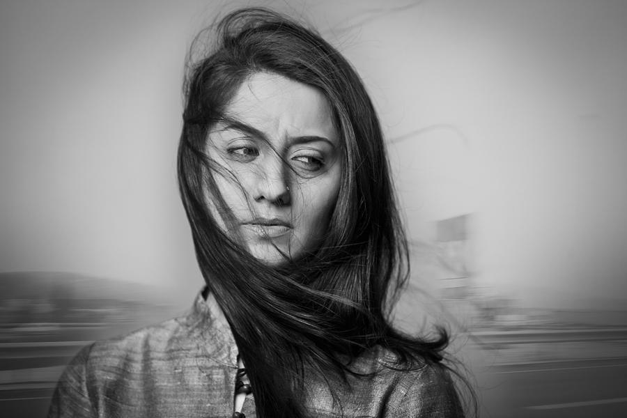 Portrait of a distressed woman Photograph by Hemant Mehta