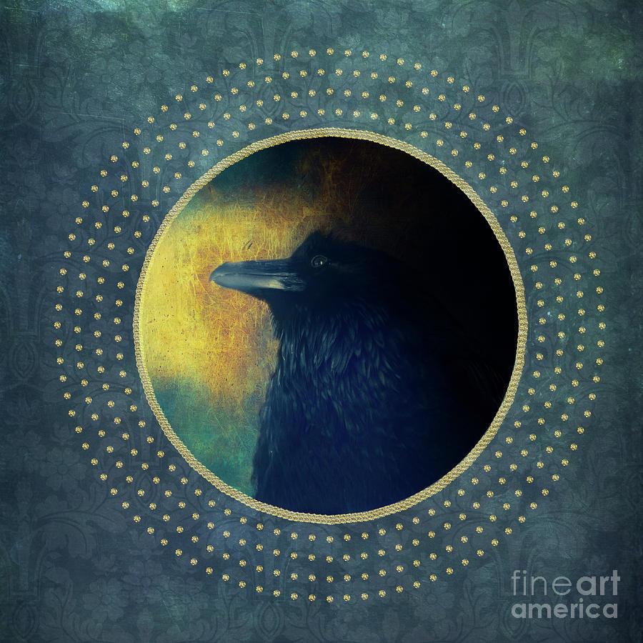 Portrait of a raven by Priska Wettstein