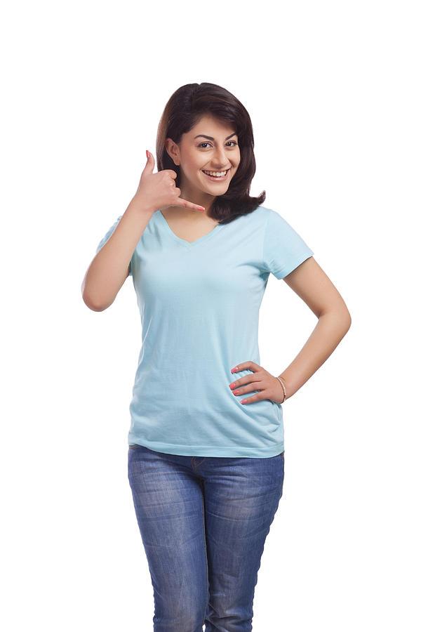 Portrait of a woman gesturing Photograph by Sudipta Halder