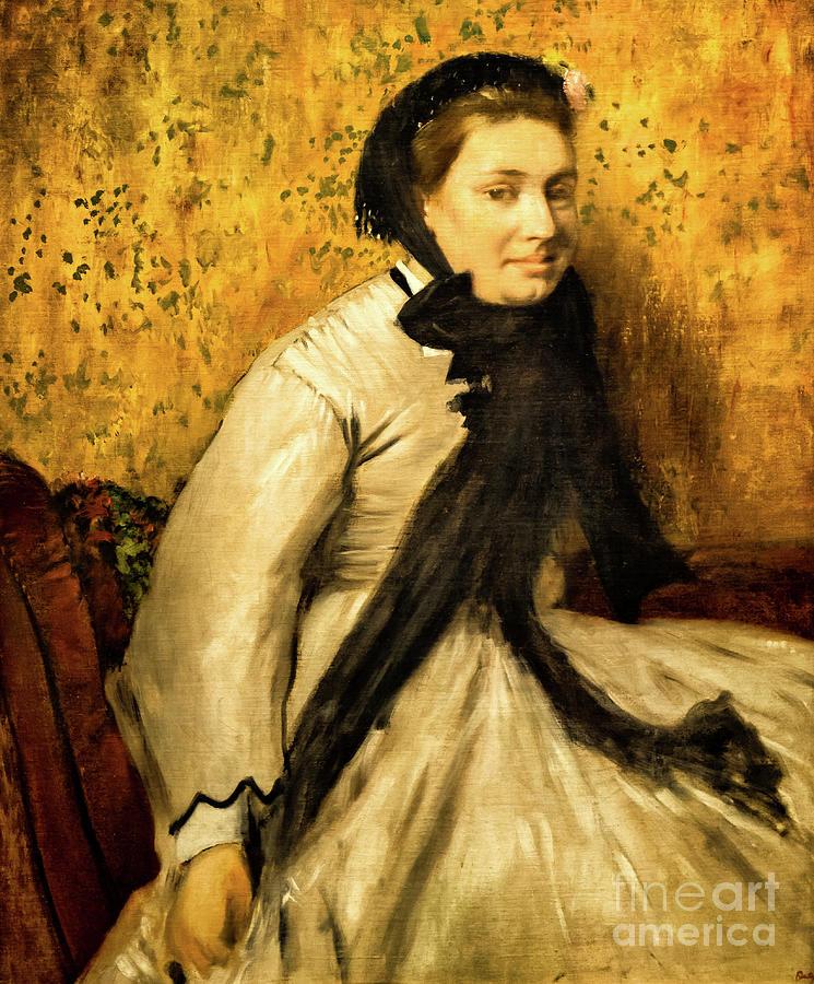 Portrait of a Woman in Gray by Degas by Edgar Degas