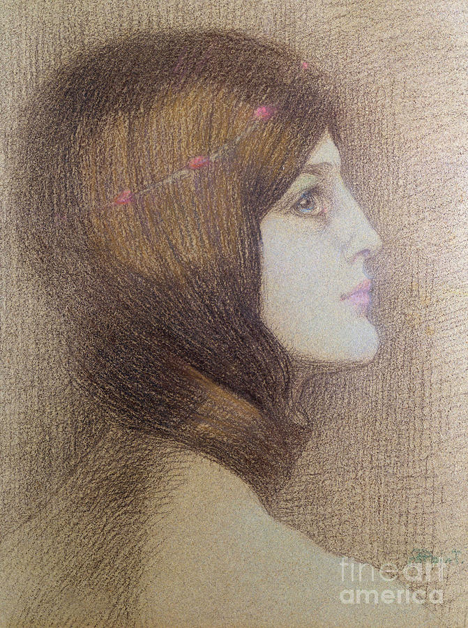 Portrait Of A Woman Pastel - Portrait of a Woman, pastel by Armand Point
