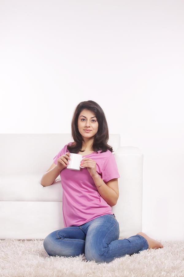Portrait of a woman with a mug of tea Photograph by Sudipta Halder