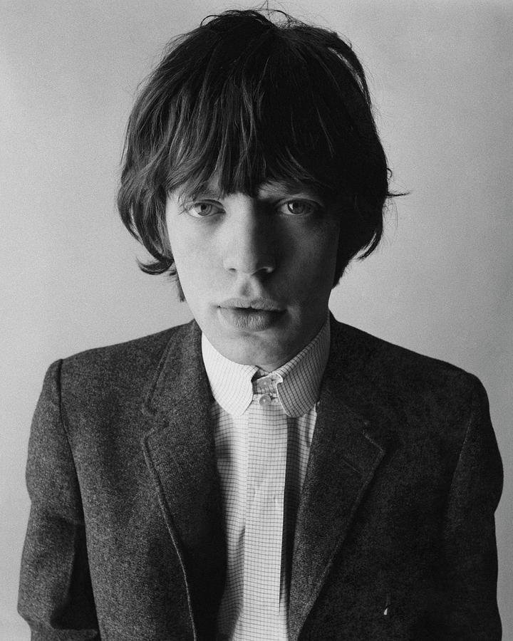 Portrait of a Young Mick Jagger Photograph by David Bailey