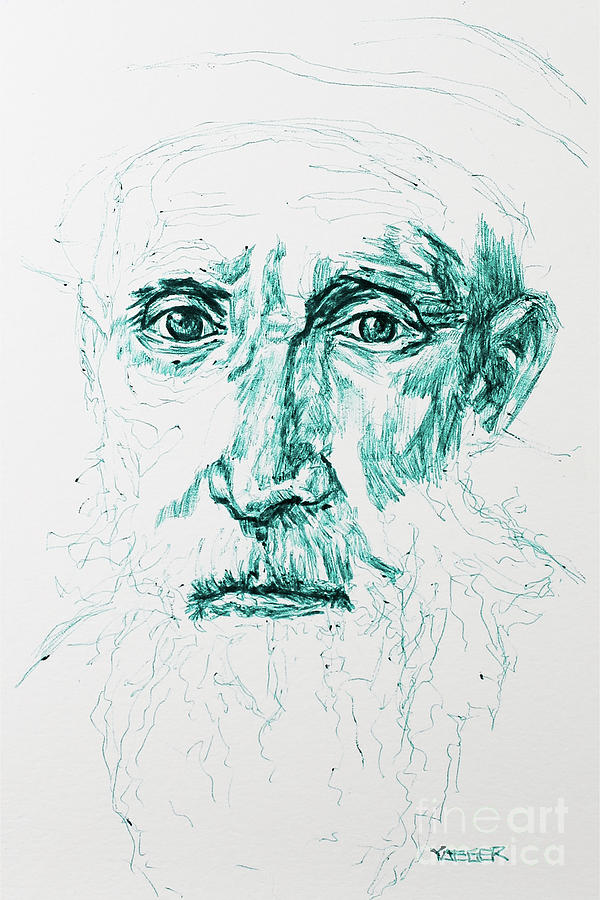 Portrait Of An Unknown Man -  Lotto Drawing