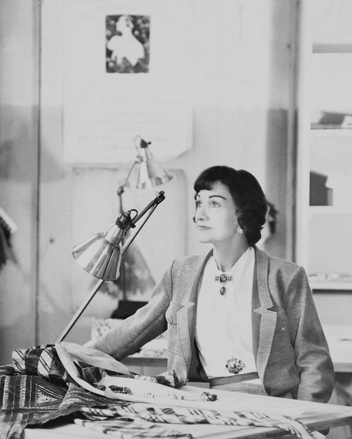 Portrait of Coco Chanel, 1954 Photograph by Henry Clarke