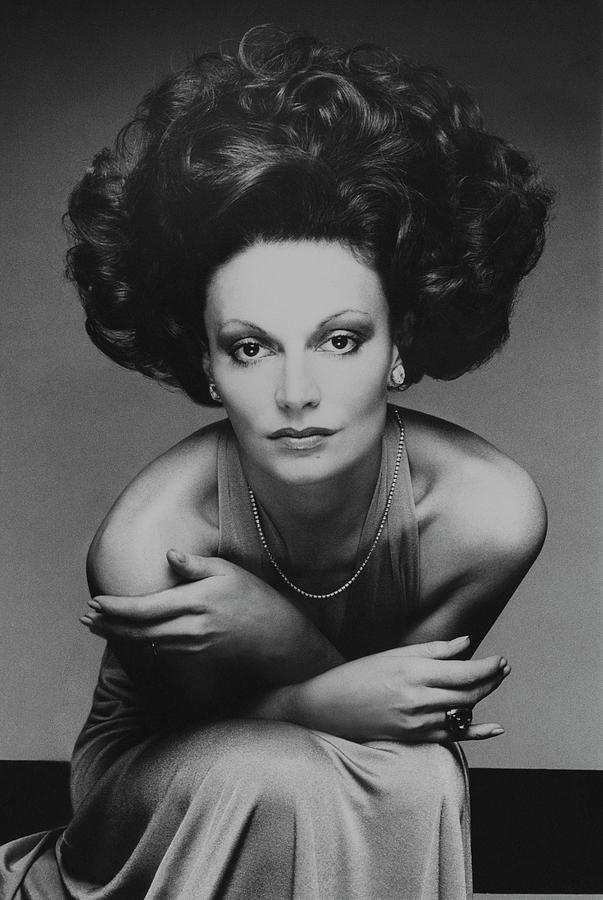 Portrait of Diane von Furstenberg Photograph by Bob Stone