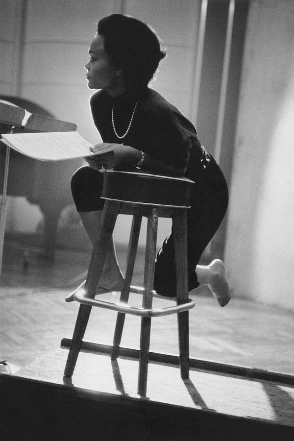Portrait of Eartha Kitt in the Studio Photograph by Martin Iger